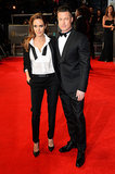 Angelina Jolie and Brad Pitt on the 2014 BAFTA Red Carpet
