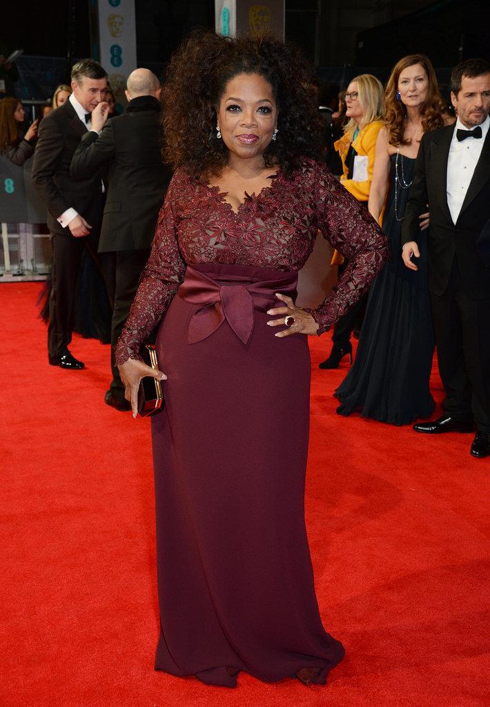 Oprah Winfrey at the 2014 BAFTA Awards.