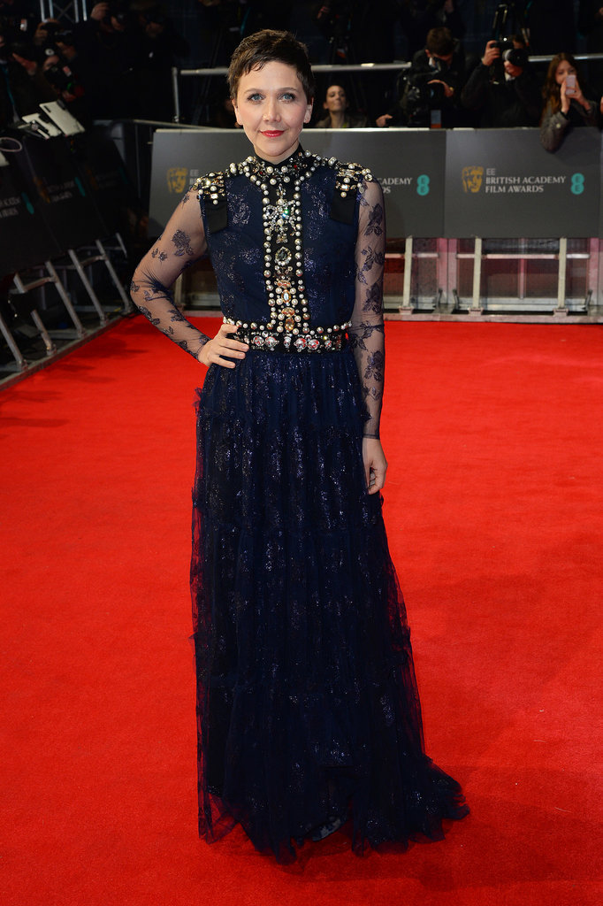 Maggie Gyllenhaal at the 2014 BAFTA Awards.