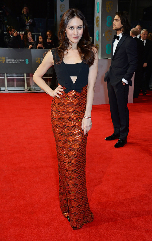 Olga Kurylenko at the 2014 BAFTA Awards.