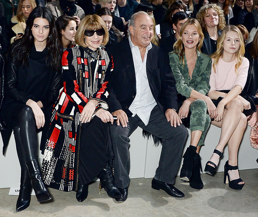 Kendall Jenner Mingles With Fashion Royalty