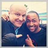 How cute are Enrico Colantoni (who plays Veronica's dad, Keith) and Daggs?  Source: Instagram user theveronicamarsmovie