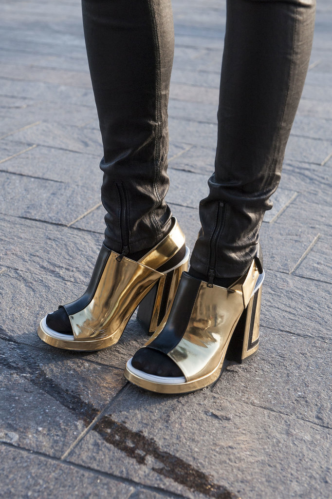 Talk about a statement heel.