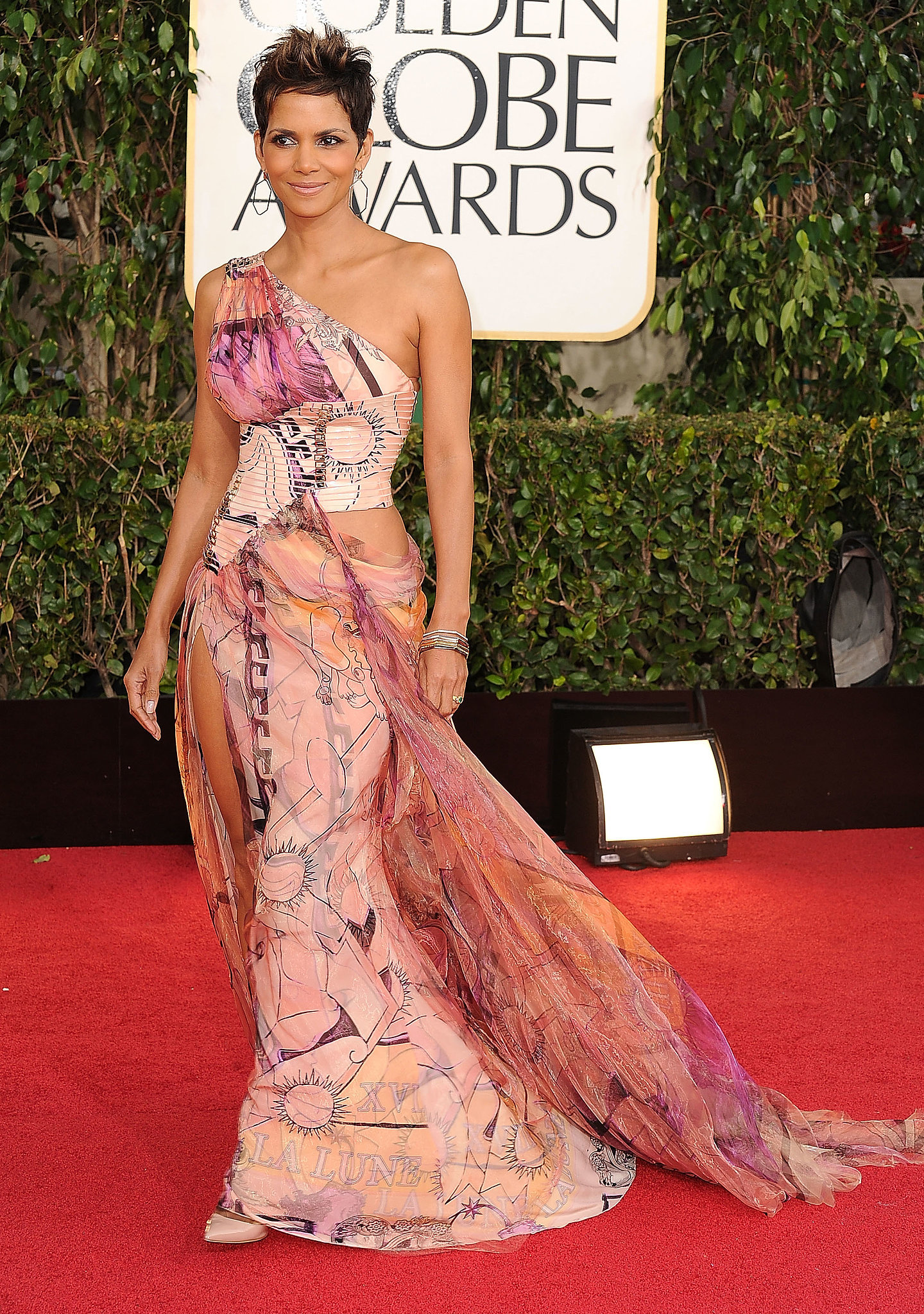 Halle Berry in Versace at the Golden Globe Awards