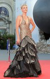 Charlize Theron in Versace at the Venice Film Festival