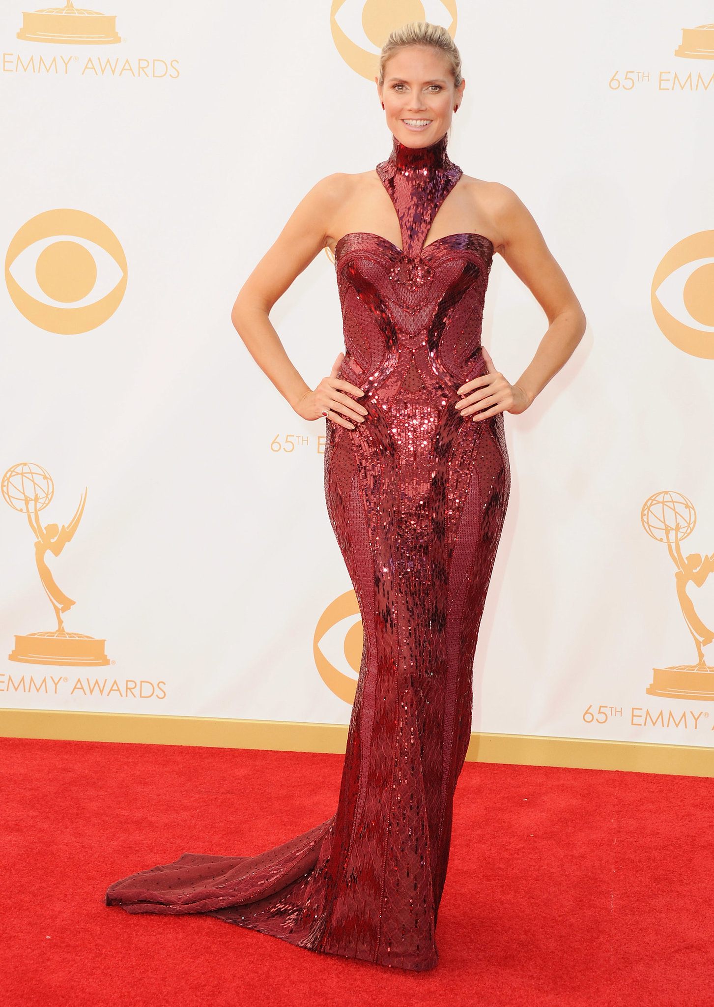 Heidi Klum in Versace at the Emmys