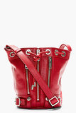 Saint Laurent Red Rider Small Bucket Bag