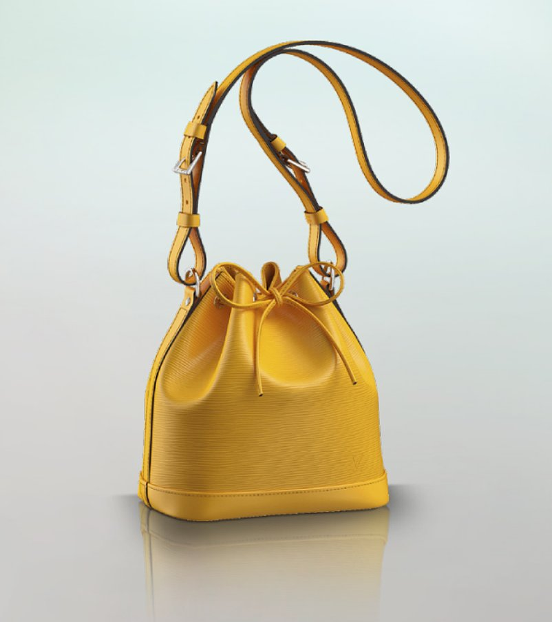 Louis Vuitton Yellow Noe BB Mini Bucket Bag