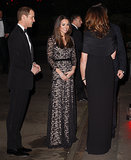 Kate Middleton in Black Lace Temperley