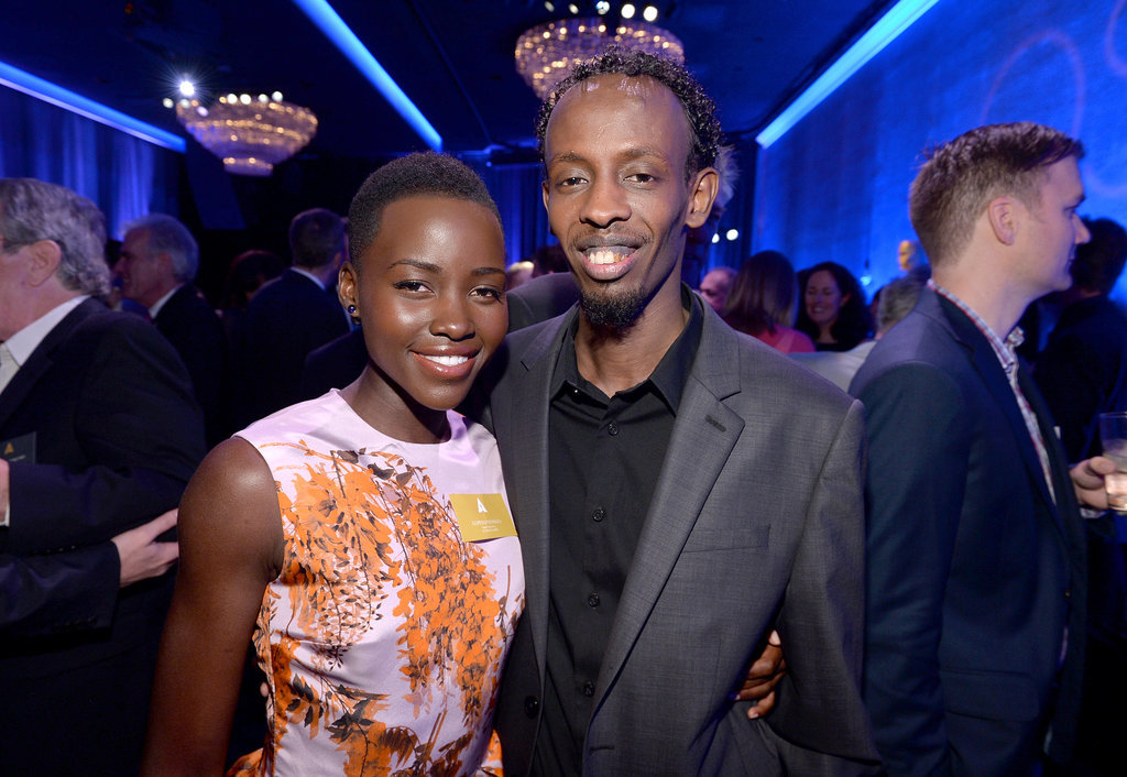 Lupita met up with Captain Philipps star Barkhad Abdi during the Academy Awards nominee luncheon.