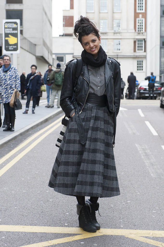 Another perfect way to wear the full skirt in Winter.
