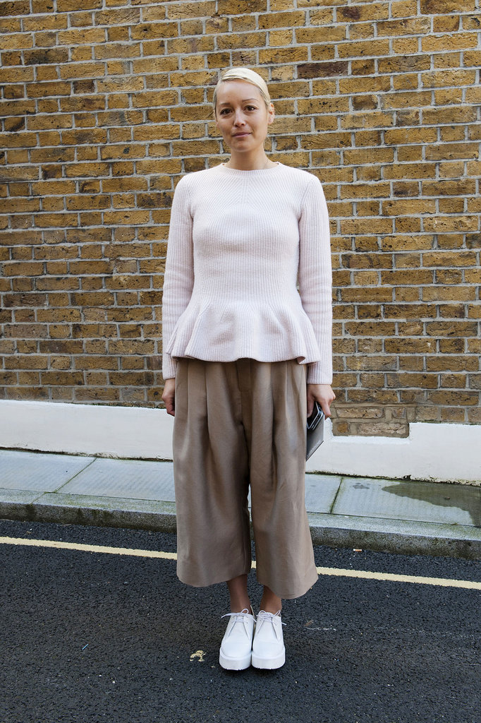 Voluminous cropped trousers aren't the easiest look to pull off, but if there's any time to try, it's at LFW!