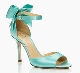 Kate Spade Blue Izzie Bow Ankle-Strap Heels