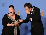 Melissa McCarthy and Jimmy Fallon Were in Awe of His Fake Golden Globe