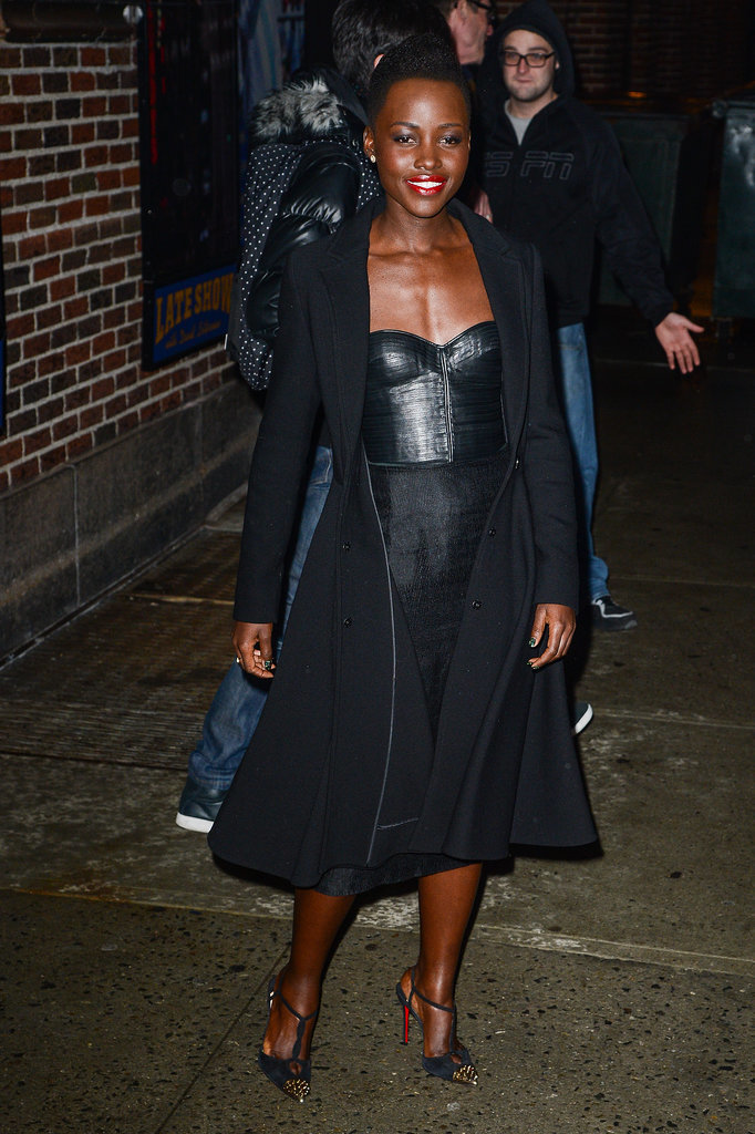 Lupita Nyong'o at the Ed Sullivan Theater