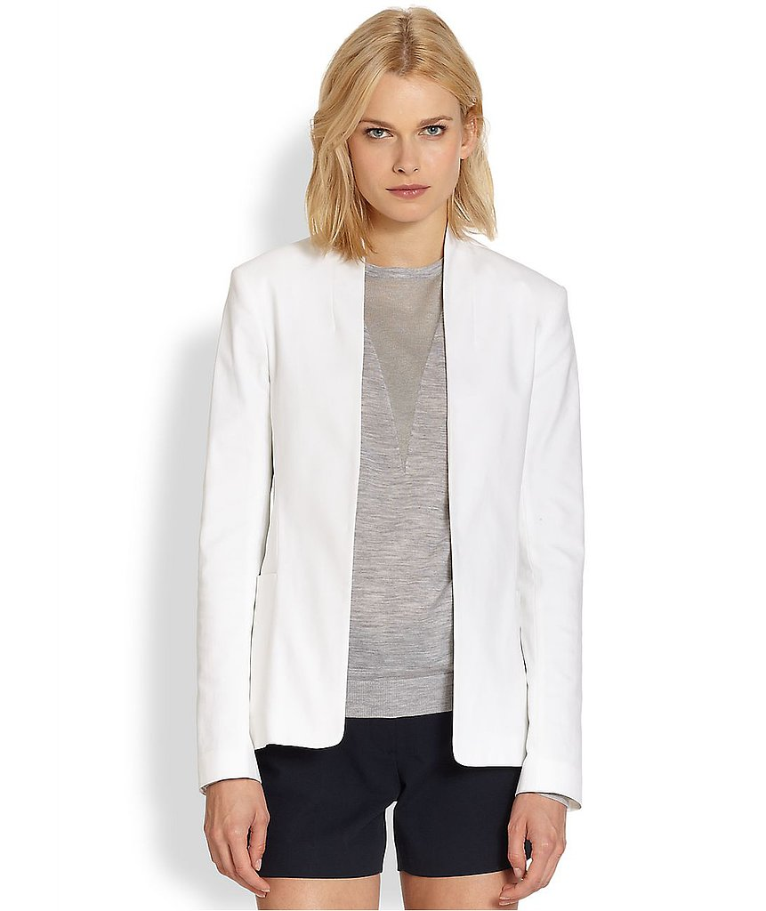 Theory Kacela White Checklist Stretch Cotton Blazer ($277, originally $395)