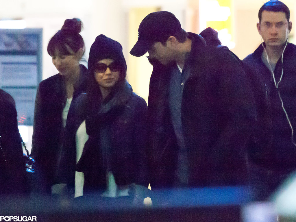 So Long, NYC! Ashton and Mila Bring Their Love Back to LA
