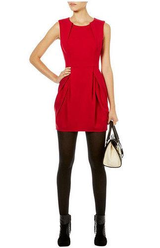 Ruffled Sleeveless Shift Dress