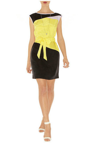 Colorblock Belted Shift Dress