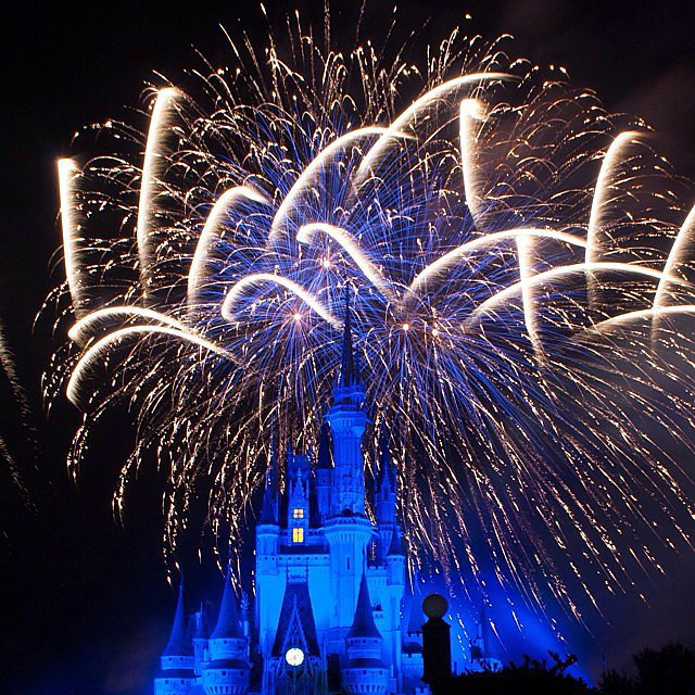 Watch the Cinderella Castle Fireworks