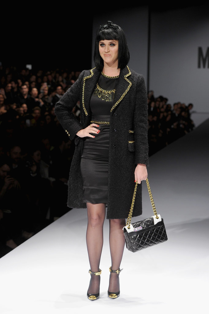 Katy Perry Walking in the Moschino Fall 2014 Runway Show