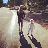 Jessica Simpson walked with her daughter, Maxwell Johnson. Source: Instagram user jessicasimpson