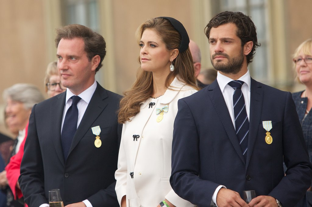Princess Madeleine was joined by her husband and very handsome brother, Prince Carl Philip, during jubilee celebrations at the royal palace.