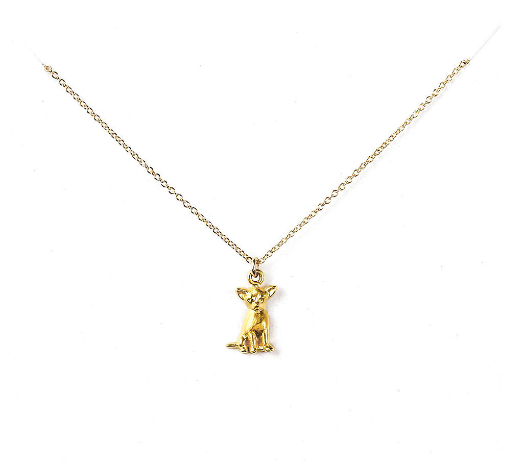 Wag by Dogeared Chihuahua Gold-Dipped Necklace ($58)