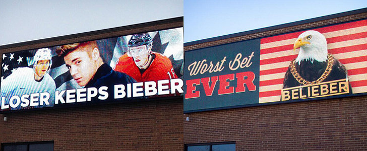 USA vs. Canada: #LoserKeepsBieber Billboard Gets an Update