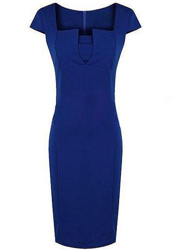 Squared Neckline High Waist Dress