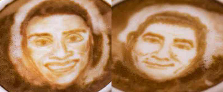 Celebrity Chef Portraits on Latte Foam