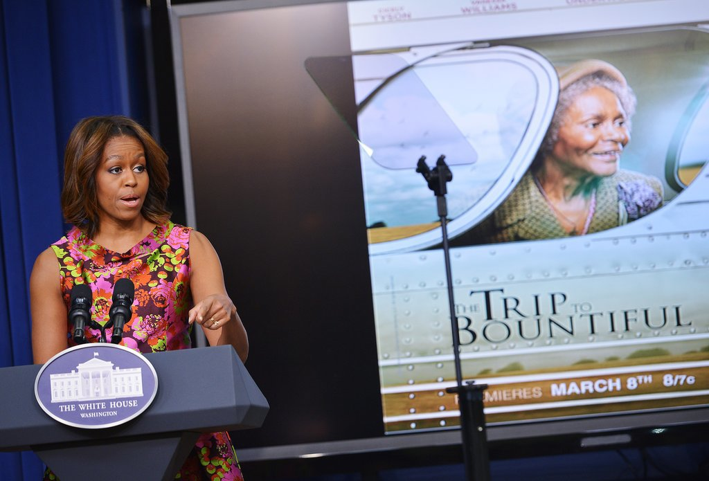 Michelle Obama spoke during a White House screening of The Trip to Bountiful.