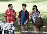Rico Rodriguez and Nolan Gould sported some indigenous face painting during a bush scene on Feb. 21, with Ariel Winter.
