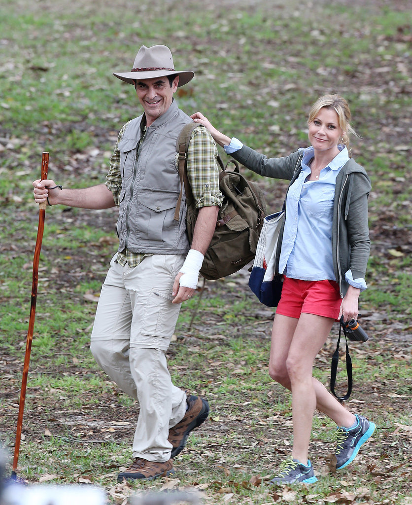 Ty Burrell and Julie Bowen got into the bush spirit on Feb. 21.