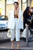 Miroslava Duma at Milan Fashion Week