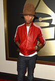 Pharrell and his hat first went public with their relationship at the 2014 Grammy Awards.