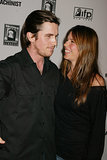Sibi was all smiles alongside Christian at the NYC premiere of The Machinist in September 2004.