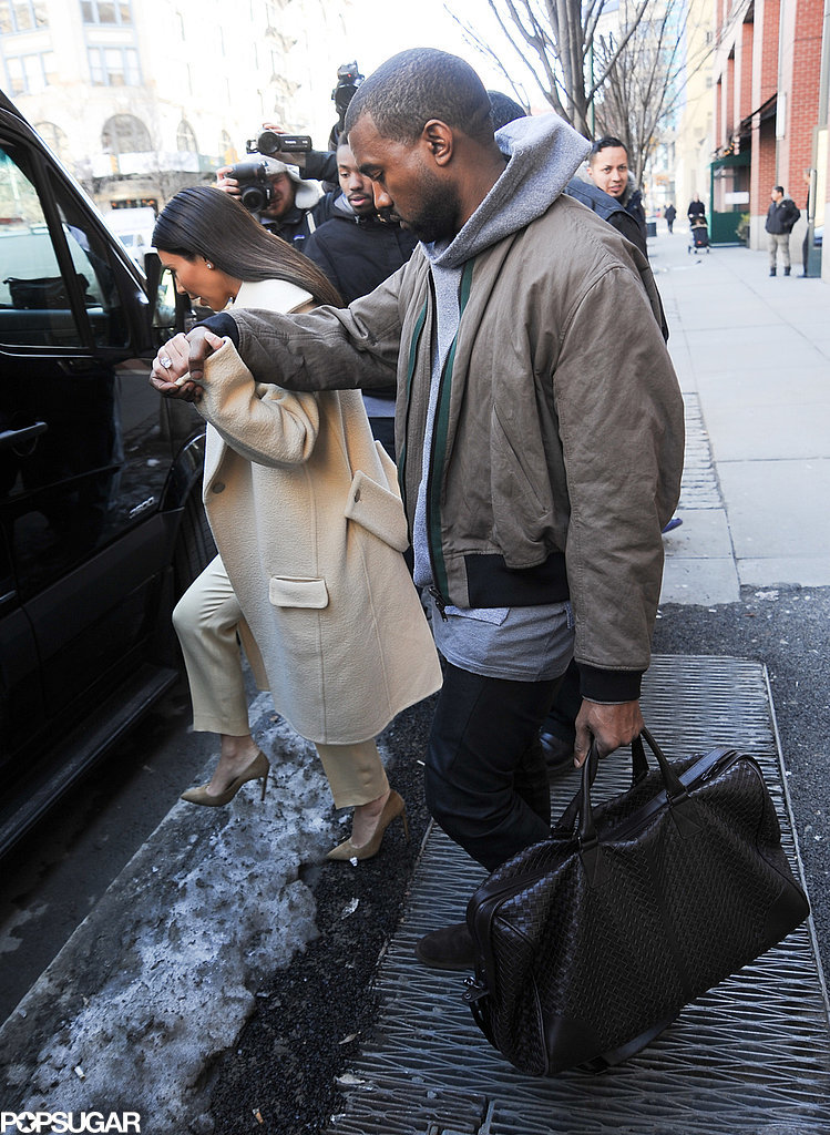 Later in the day, Kim met up with Kanye to run errands.