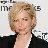 Michelle Williams Grows Hair From Pixie to Asymmetrical Bob