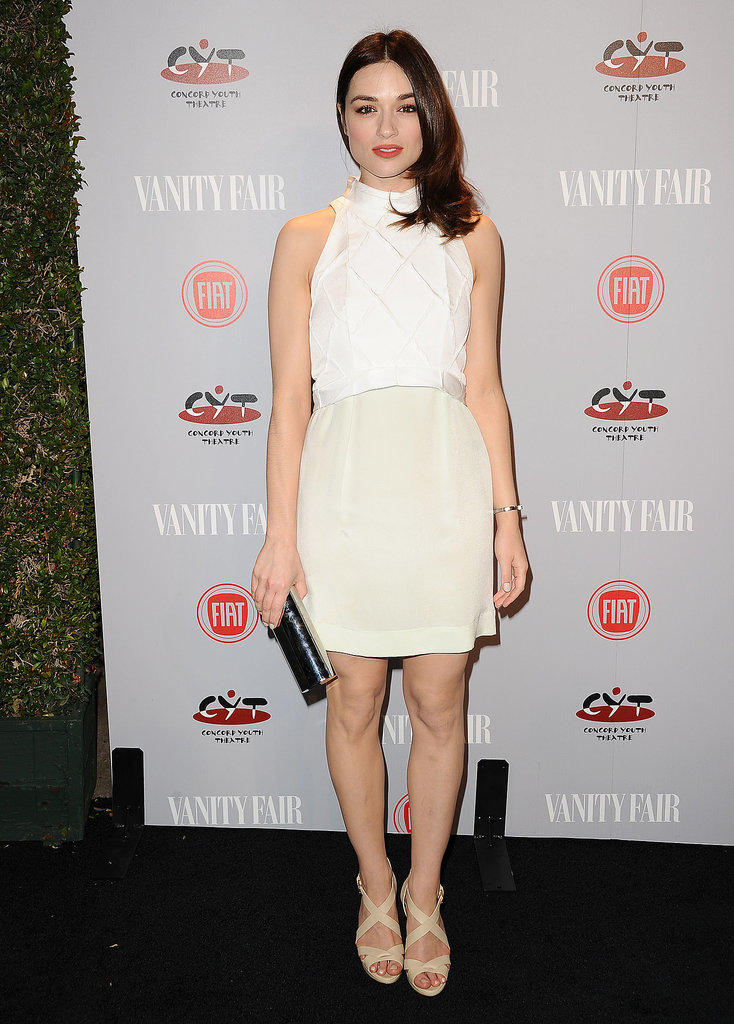 Teen Wolf's Crystal Reed dazzled in white.