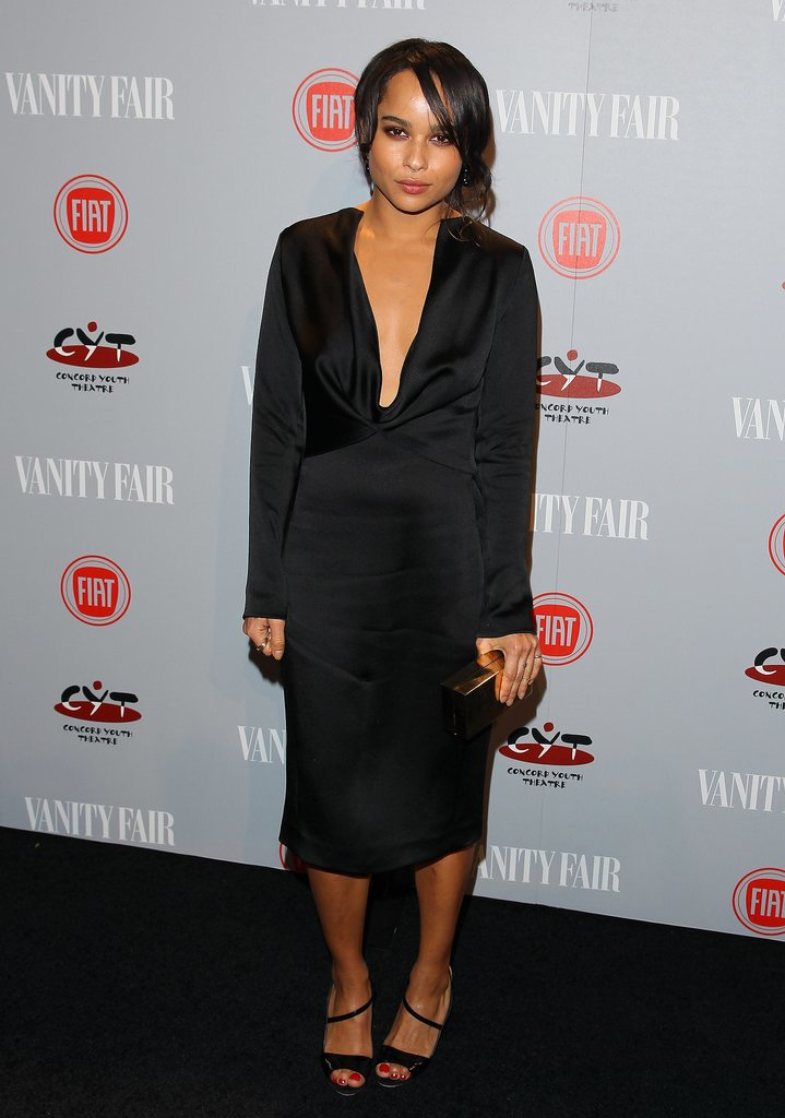 Zoe Kravitz also went for a sleek black look.