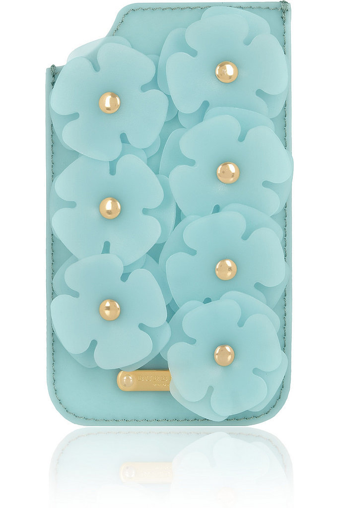 You'll realize why this Burberry Prorsum iPhone sleeve ($365) costs so much once you see it's designed with 3D silicone flowers. Fancy!