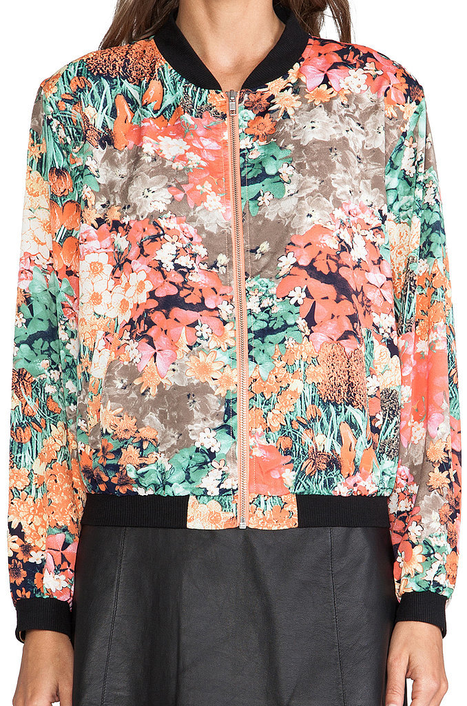 MM Couture by Miss Me Floral Bomber Jacket
