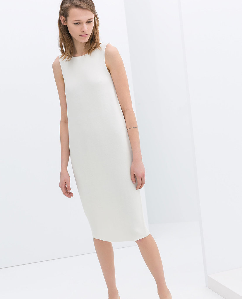 Zara Sleeveless White Shift Dress ($80)