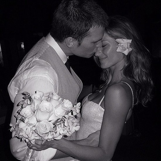 Gisele Bündchen shared this sweet snap from her February 2009 wedding to Tom Brady via Instagram on their fifth anniversary. 