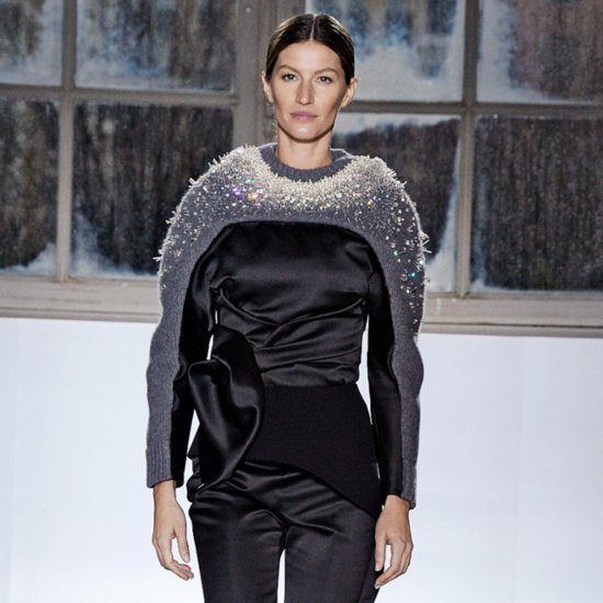 Gisele Bundchen at the Balenciaga Fall 2014 Runway Show