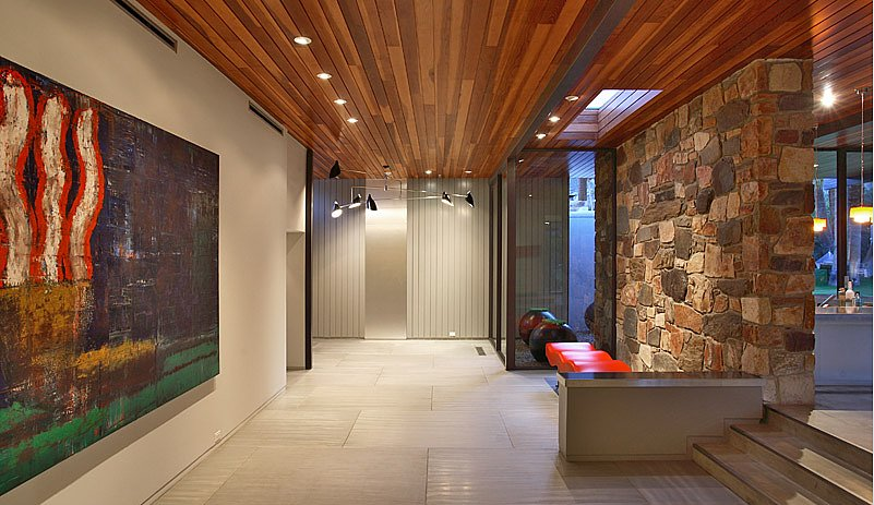 Large, rectangular walls call for oversize art.  Source: Capitas Real Estate