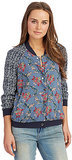 Free People Floral Baseball Jacket