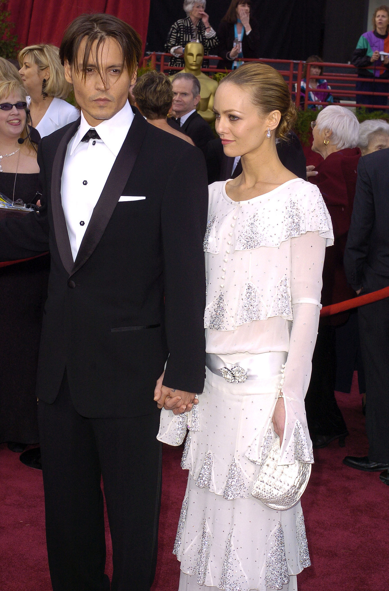 Johnny Depp brought Vanessa Paradis to the 2004 awards, at which he was a nominee for his work in Pirates of the Caribb