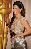 Sandra Bullock couldn't contain her excitement after winning the best actress award in 2010.